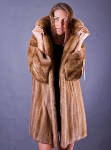 Норковая шуба - манто Дэнила