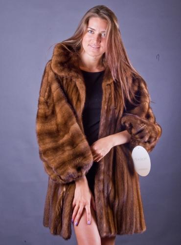 Норковая шуба - манто Донэтелла